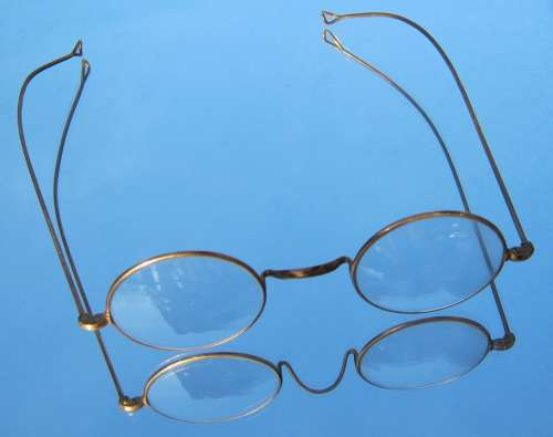 Reading Glasses Glasses Old Round Learn Read