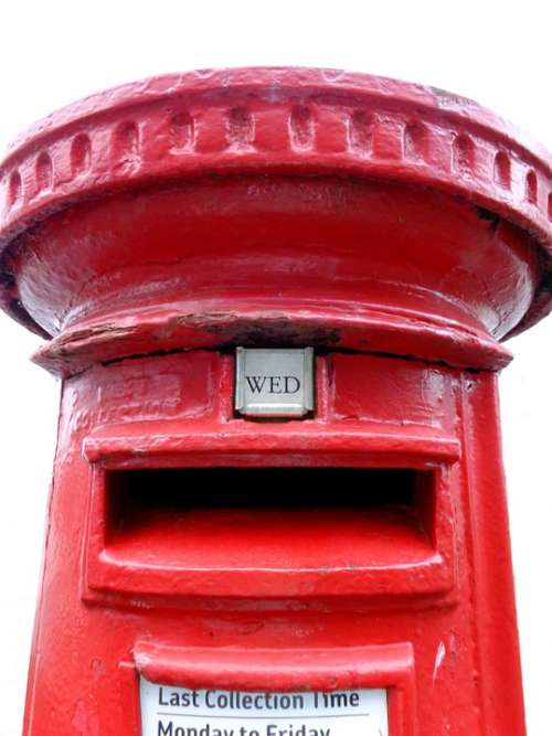 Red Post Box Postal Service Communications Letters