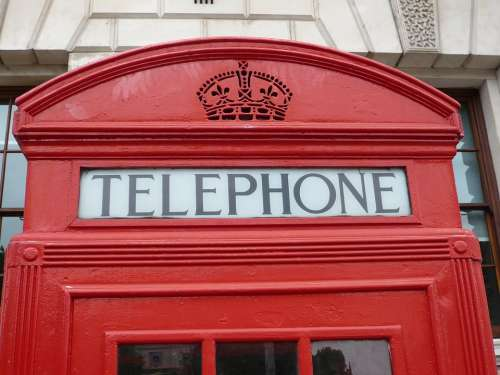 Red Phone Booth London Red Telephone Box British
