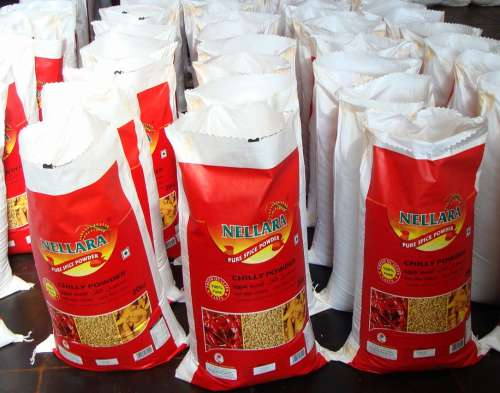 Red Chilli Powder Wholesale Market Bagging Byadagi