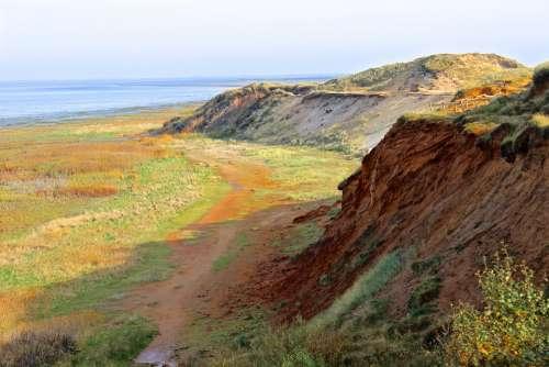 Red Cliffs Wadden Sea North Sea Dunes Sylt