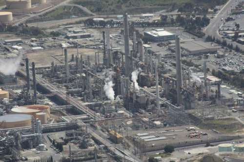 Refinery Oil Aerial Natural Gas Gasoline