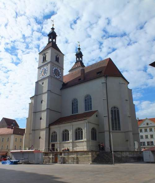 Regensburg Church Germany Bavaria Eastern Bavaria