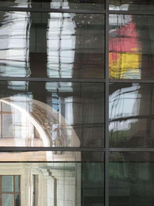 Reichstag Berlin Flag Glass Dome Bundestag