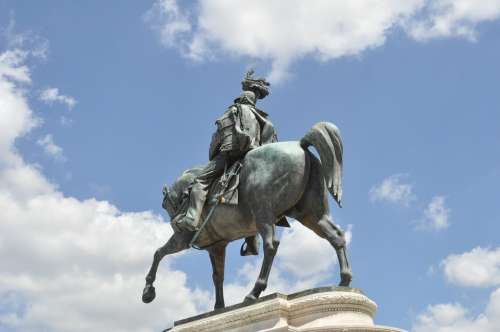 Reiter Soldier Honor Fame Horse Ross Statue