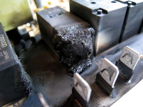 Relay Electromechanical Relay Burnt Relay Burnt