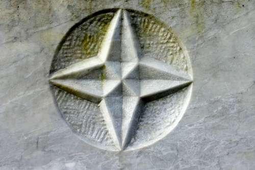 Relief Stone Symbol Star