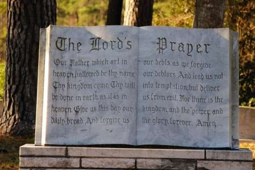 Religious Bible Lords Prayer Nature Cemetery