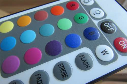 Remote Control Buttons Use Part Colorful