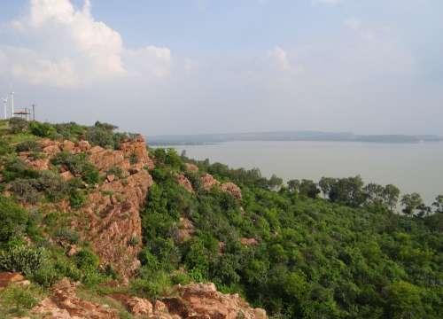 Renuka Sagar Lake Malaprabha Dam Backwaters Cliff