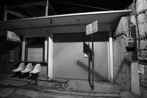 Republic Of Korea Seoul Hongdae Alley Night Chair