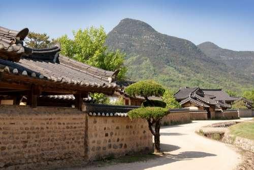 Republic Of Korea Traditional Houses Hanok