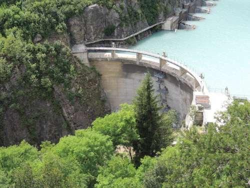 Reservoir Dam Water Power Plant Filter Water Level