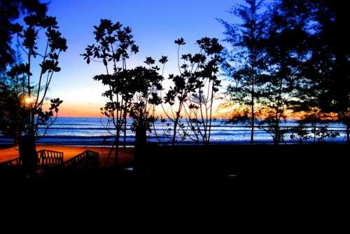 Resort Thailand Khao Lak Holiday Vocation Sunset