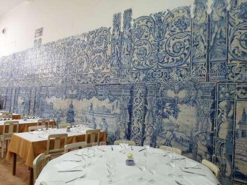 Restaurant Historically Tiles Porto Portugal