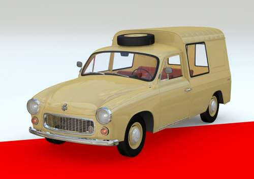 Retro Car Polish Vehicle Transportation Auto
