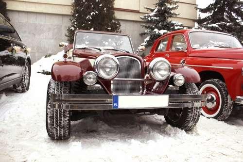 Retro Car Chrysler Le Baron Convertible Wedding Car