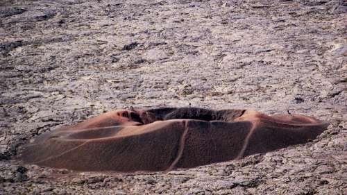 Reunion Island Road Volcano Piton Of The Furnace