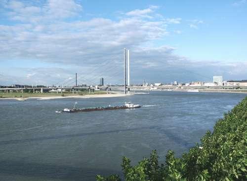 Rhine Water Ship Suspension Bridge Bridge