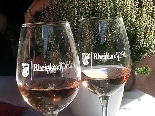 Rhineland Palatinate Wine Rose Wine Winglas