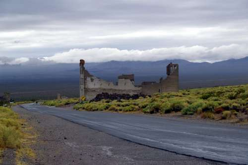 Rhyolite Ghost Town Nevada Usa Ruin Building
