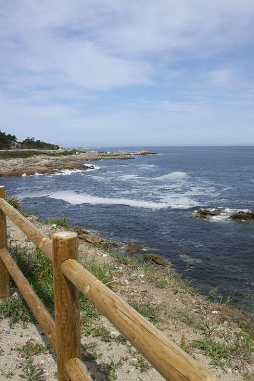 Ria Clouds Landscape Sea Water Waves
