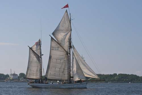 Riga Ship Sailboat Sailing Summer Boat Latvia