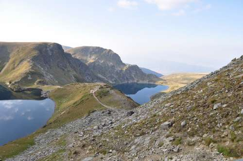 Rila Bulgaria Lake Mountain Nature Landscape