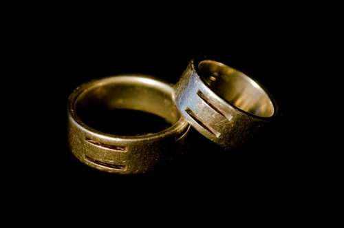 Ring Rings Couple Small Big Male Female Silver