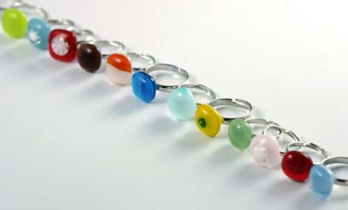 Rings Ring Glass Jewellery Fused Glass Fashion