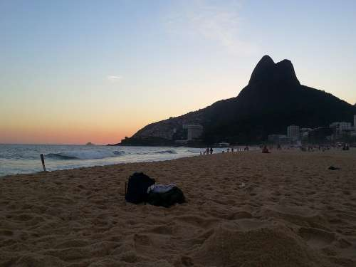 Rio De Janeiro Beach Ipanema Landscape Sunset