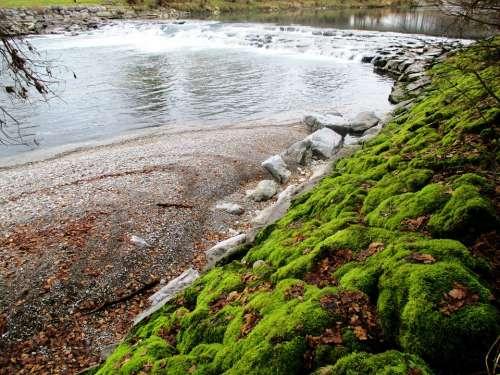 River Waterfall Bank Stones Moss Bemoost Pebble