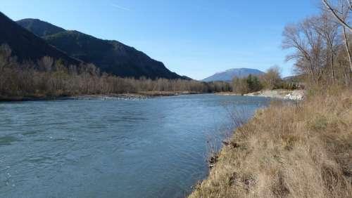 River Water Courses Landscape Nature Hautes Alpes