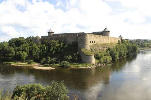 River Castle Old History Nature Estonia Border
