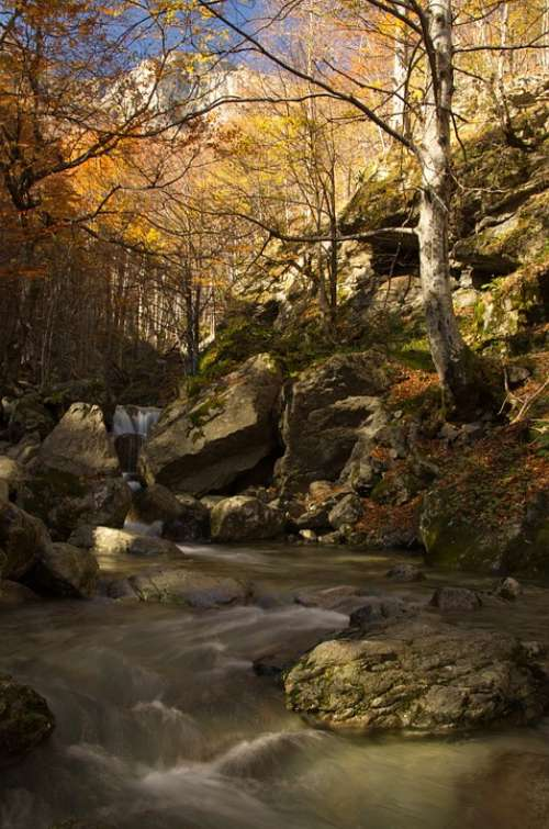 River Mountain Nature Water Landscape Forest Rock