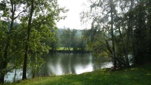 River Water Bank Main Nature Sky Reflections