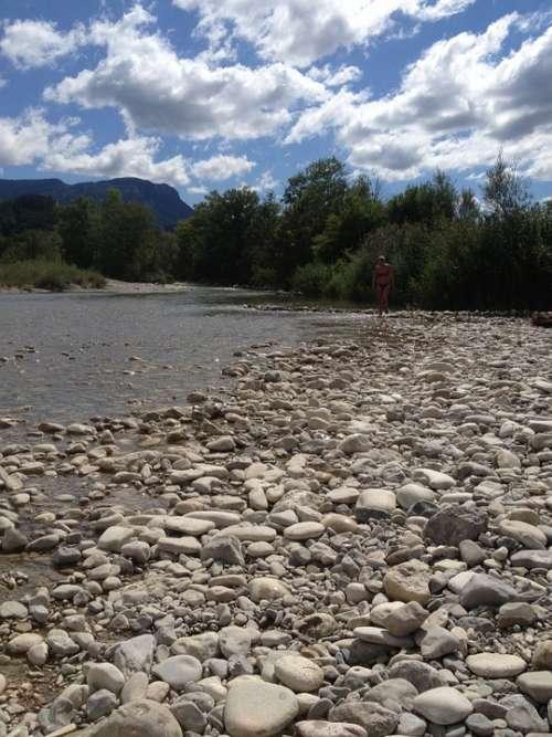 River Stones Water Flow