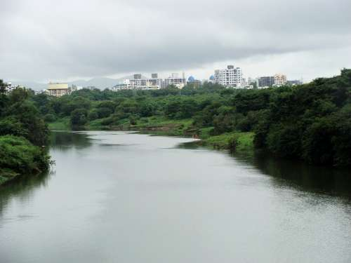 River Mutha River Pune River Pune City