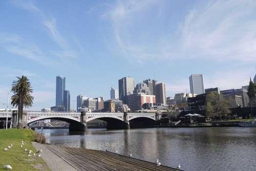 River Banks City Sun Melbourne
