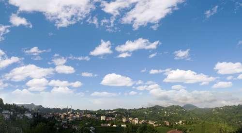 Rize Kendirli Town Landscape Nature Greens Sky Tea