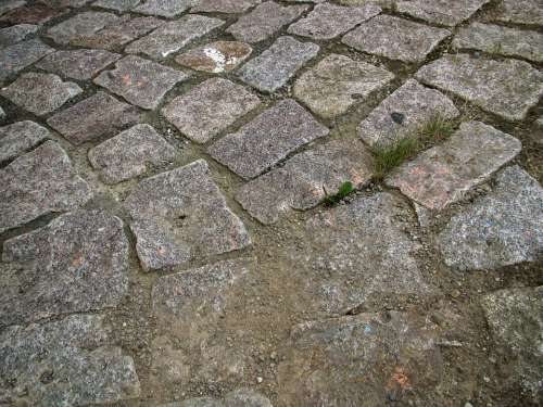 Road Away Stone Paving Stone Structure Background