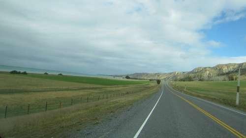 Road New Zealand Beautiful Scenic Landscape Sky