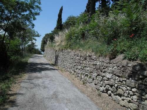 Road Wall Upstream May Hill