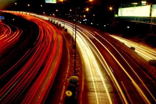 Road Traffic Lights Cars Rear Lights Front Lights