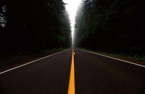 Road Route Asphalt Landscape