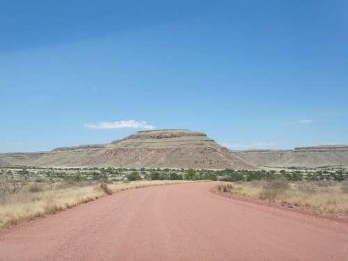 Road Namibia Kalahari Desert