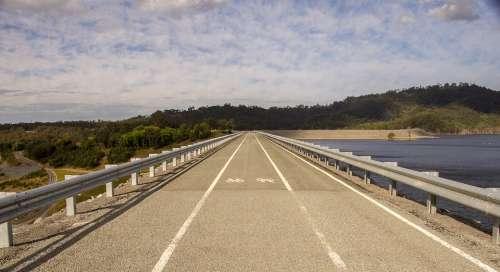 Road Dam Water Lake Queensland Australia