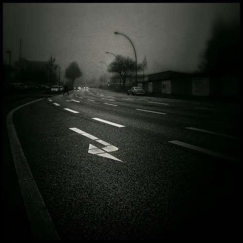 Road Exit Dark