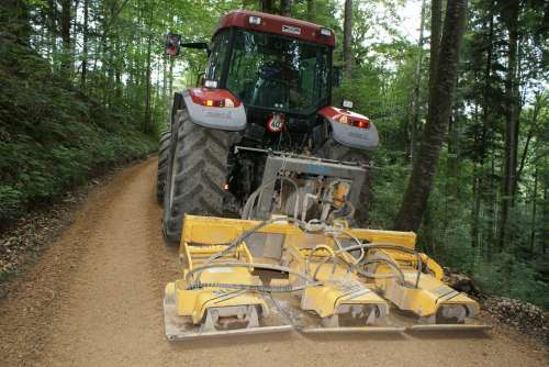 Road Construction Forest Path Tractor