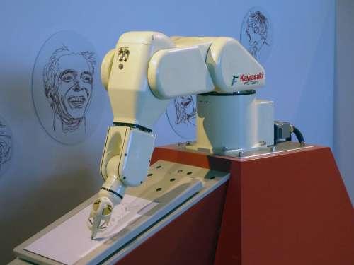 Robot Robot Arm Robotics Painting Kawasaki